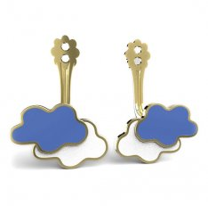 BeKid Gold earrings components -   Clouds