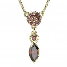 BG necklace with moldavite and garnet 954