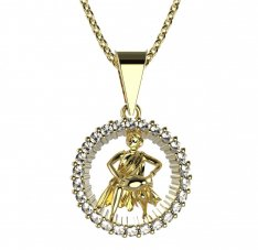 BeKid, Gold kids pendant - 045 Aquarius