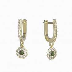 BG moldavit earrings -552