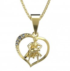 BeKid, Gold kids pendant - 042 Aquarius