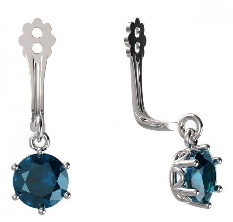 BeKid Gold earrings components I5 - Metal: White gold 585, Stone: Light blue cubic zircon