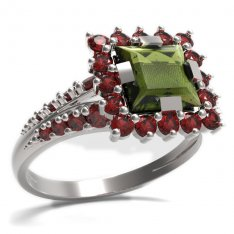 BG ring square stone499-G