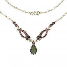 BG garnet necklace 501