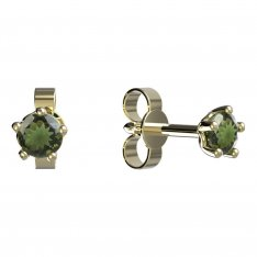 BG moldavit earrings -873