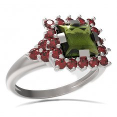BG ring square stone499-U
