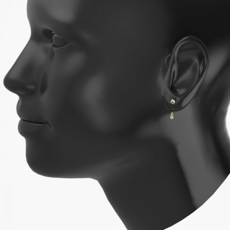 BeKid Gold earrings components I2 - Metal: Yellow gold 585, Stone: Diamond