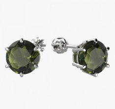 BG moldavite earrings - 681