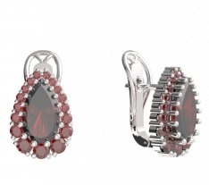BG  earring 633-R7 drop stone