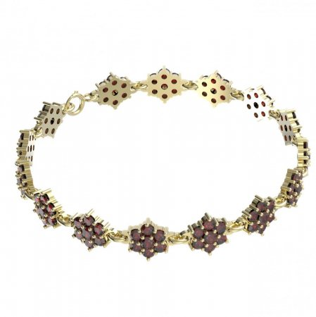 BG bracelet 157 - Metal: Yellow gold 585, Stone: Garnet