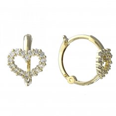 BeKid, Gold kids earrings -1348 - kruhy