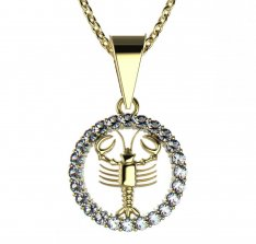 BeKid, Gold kids pendant - 052 crayfish