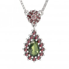 BG garnet necklace 956