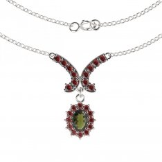 BG garnet necklace 298