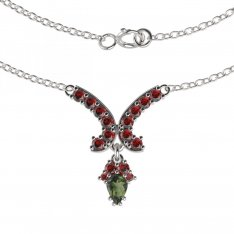 BG garnet necklace 257