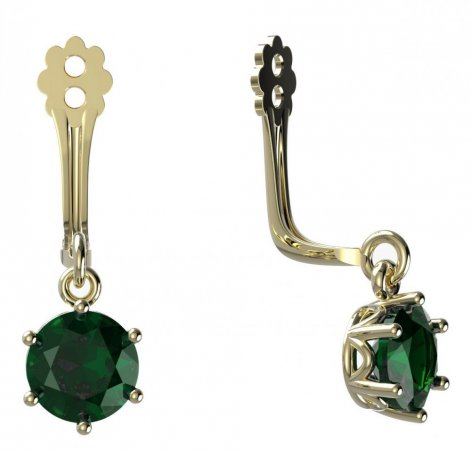 BeKid Gold earrings components I5 - Metal: Yellow gold 585, Stone: Green cubic zircon