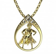 BeKid, Gold kids pendant - 047 Aquarius