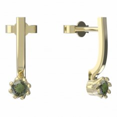 BG moldavit earrings -554