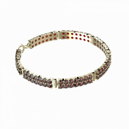 BG bracelet 041 - Metal: Yellow gold 585, Stone: Garnet