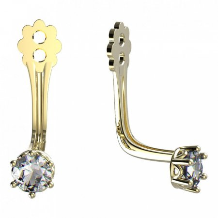 BeKid Gold earrings components 3 - Metal: Yellow gold 585, Stone: White cubic zircon