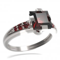 BG ring square stone 496-J