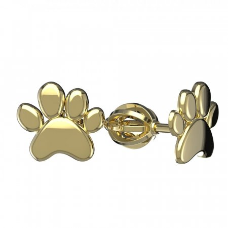 BeKid, Gold kids earrings - - Switching on: Hinge clip D03, Metal: Yellow gold 585