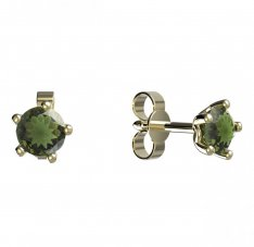 BG moldavit earrings -874