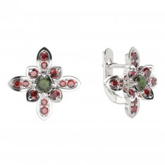 BG earring flower    404-07