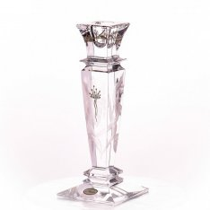 Hand engraved candlestick iris Aida SRQA0DS35