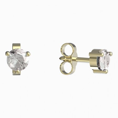 BeKid, Gold kids earrings -782 - Switching on: Brizura 0-3 roky, Metal: Yellow gold 585, Stone: White cubic zircon