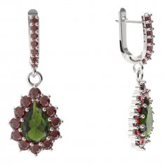BG drop stone earring 186-84