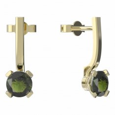 BG moldavit earrings -558