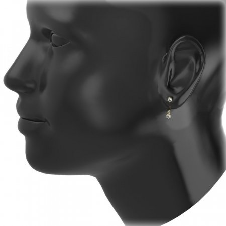 BeKid Gold earrings components I3 - Metal: Yellow gold 585, Stone: Diamond