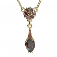 BG garnet necklace 637