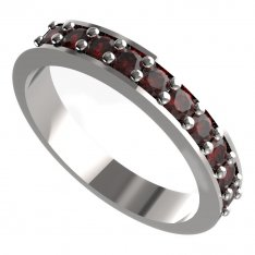 BG ring - natural garnet - semicircle 839