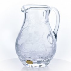 Hand engraved crystal pitcher Aida figure SRQA0DR26