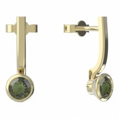 BG moldavit earrings -555