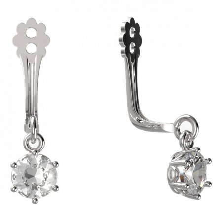 BeKid Gold earrings components I4 - Metal: White gold 585, Stone: Diamond