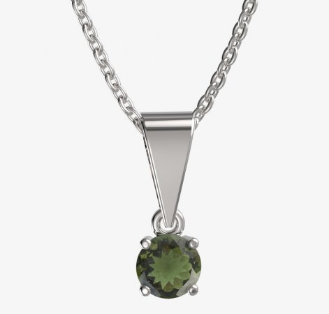 BG gold pendant 726 - Metal: Yellow gold 585, Handle: Handle 0, Stone: Moldavite