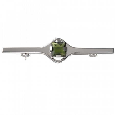 BG brooch 496I - Metal: Silver - gold plated 925, Stone: Moldavite