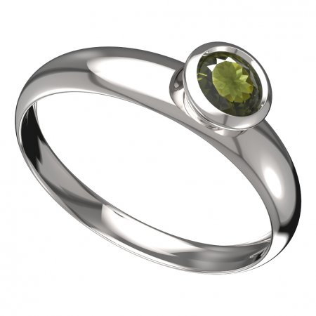 BG moldavit ring - 555T - Metal: Yellow gold 585, Stone: Moldavite