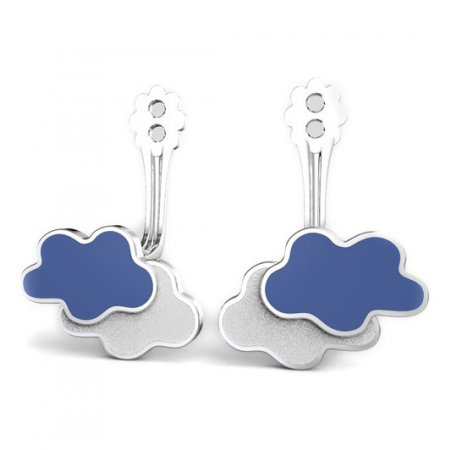 BeKid Gold earrings components -   Clouds - Metal: Yellow gold 585, Stone: White cubic zircon