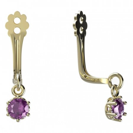 BeKid Gold earrings components I3 - Metal: Yellow gold 585, Stone: Pink cubic zircon