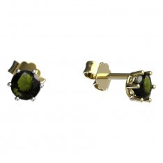 BG moldavit earrings - 1294