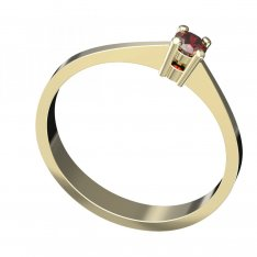 BG gold ring garnet or moldavit 777