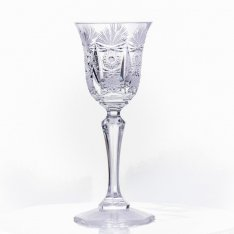 Set of two crystal handmade liquor cups Šafránek 649 ORQQI0177