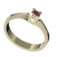 BG gold ring garnet or moldavit 783