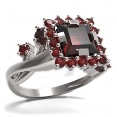 BG ring square stone499-P