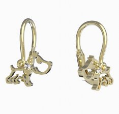 BeKid, Gold kids earrings -1159