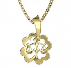 BeKid, Gold kids pendant - 041 Scales